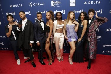 Red Carpet arrivals at the 29th Annual GLAAD Media Awards