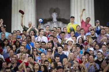 July Fourth celebration in Washington