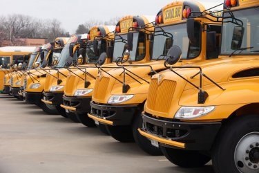 Schools are closed and buses idle due to Coronavirus fears