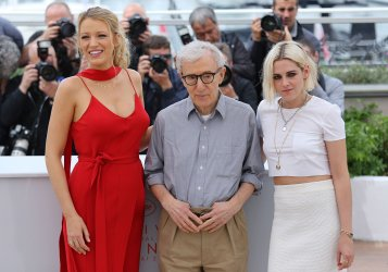 Blake Lively, Woody Allen and Kristen Stewart attend the Cannes Film Festival