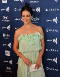 Melissa Fumero attends the 30th annual GLAAD Media Awards in Beverly Hills