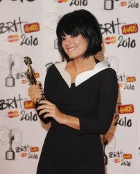"Lily Allen attends the press room at ""Brit Awards"""