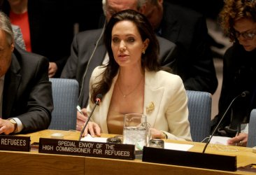 Actress Angelina Jolie at the United Nations