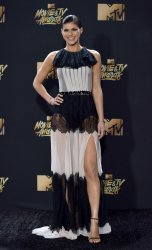 Alexandra Daddario attends the 2017 MTV Movie & TV Awards in Los Angeles