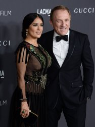 Salma Hayek and Francois-Henri Pinault attend the LACMA Art+Film gala in Los Angeles