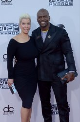 Rebecca King-Crews and Terry Crews attend the 43rd annual American Music Awards in Los Angeles