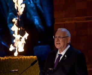 Israeli President Reuven Rivlin Speaks At Holocaust Remembrance Day