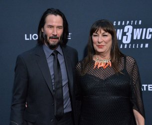 """Keanu Reeves and Anjelica Huston attend the """"John Wick: Chapter 3 - Parabellum"""" screening in Los Angeles"""