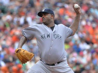 Yankees starting pitcher CC Sabathia in Baltimore