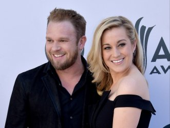 Kyle Jacobs and Kellie Pickler attend the 52nd annual Academy of Country Music Awards in Las Vegas