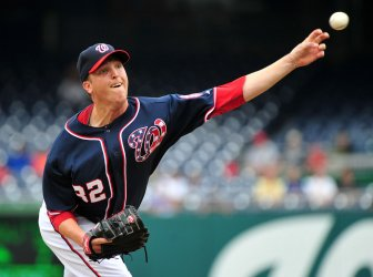 Nationals' pitcher Tom Gorzelanny pitches in Washington