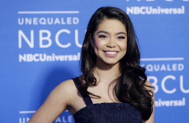 Auli'i Cravalho at the 2017 NBCUniversal Upfront