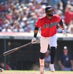 Indians Santana homers against the Twins