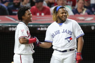 Blue Jays' Vladimir Guerrero Jr. hits 29 homers in round 2 during MLB All-Star Home Run Derby in Cleveland, Ohio
