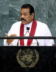 Sri Lanka's President Mahinda Rajapaksa at the 65th United Nations General Assembly at the UN in New York