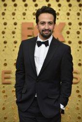 Lin Manuel Miranda attends Primetime Emmy Awards in Los Angeles