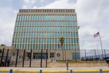 U.S. Flag Flaps Outside U.S. Embassy in Havana, Cuba