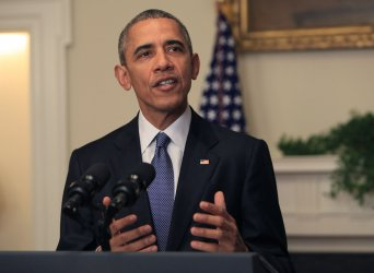 President Barack Obama makes statement on climate agreement