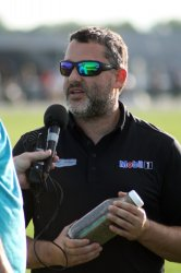 Tony Stewart hot laps on special dirt track at Indy