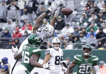 Oakland Raiders play the New York Jets in New Jersey