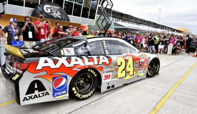 Homestead-Miami Speedway hosts the NASCAR Xfinity EcoBoost Championship in Homestead, Florida.