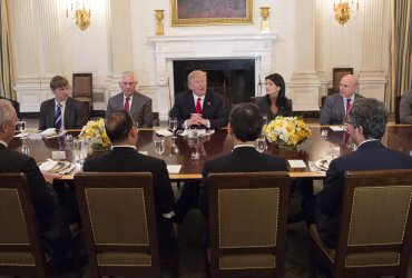 President Trump holds a meeting with the United Nationals Security Council at the White House