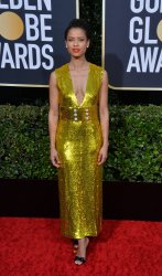 Gugu Mbatha-Raw attends the 77th Golden Globe Awards in Beverly Hills