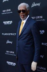 "Morgan Freeman attends the ""Olympus Has Fallen"" premiere in Los Angeles"