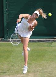 Maria Sharapova returns at 2013 Wimbledon Championships