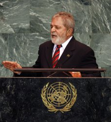 Brazilian President Luiz Inacio Lula da Silva speaks at the 64th United Nations General Assembly at the UN in New York
