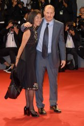 Woody Harrelson and his wife Laura Louie attend Three Billboards Outside Ebbing, Missouri Premiere at the 74th Venice Film Festival