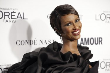 Iman arrives at Glamour Woman of the Year Awards