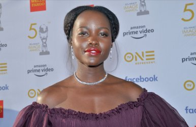 Lupita Nyong'o attends the 50th NAACP Image Awards in Los Angeles