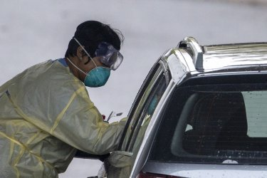 Coronavirus Drive Through Testing Site