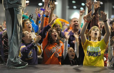 Fan Fest activities prior to the Chick-fil-A Bowl Game between LSU and Clemson in Atlanta