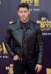 Nick Jonas attends the 2018 MTV Movie & TV Awards in Santa Monica, California