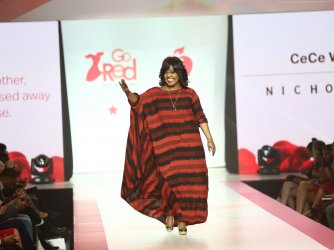 CeCe Winans at American Heart Association's Go Red For Women Show