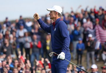 Justin Rose at the Ryder Cup 2018