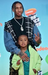 Tyga attends Kids' Choice Awards 2019