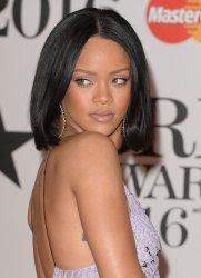 Rihanna attends the Brit Awards in London