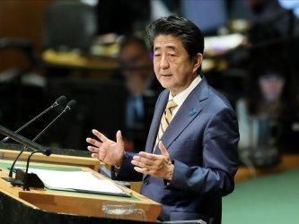 Japan Prime Minister Shinzo Aben at UN GA