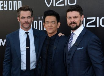 "Chris Pine, John Cho and Karl Urba attend the ""Star Trek Beyond"" premiere in San Diego"