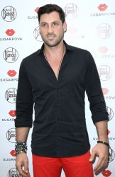 Max Chmerkovskiy attends Maria Sharapova's new candy promotion in New York