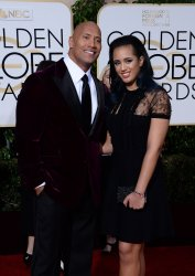 Dwayne Johnson and Simone Alexandra Johnson attend the 73rd annual Golden Globe Awards