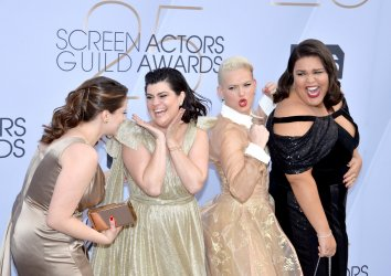 Rachel Bloom, Rebekka Johnson, Kimmy Gatewood and Britney Young attend the SAG Awards in Los Angeles