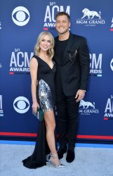 Cassie Randolph and Colton Underwood attend the Academy of Country Music Awards in Las Vegas
