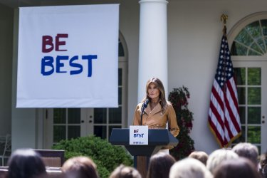 First Lady Melania Trump Announces Childhood Initiatives