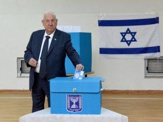 Israeli President Reuven Rivlin Votes In Jerusalem