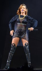 Rihanna performs at Staples Center in Los Angeles
