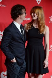Ben Folds  and Alicia Witt arrive at 2013 MusiCares Person of the Year gala in Los Angeles